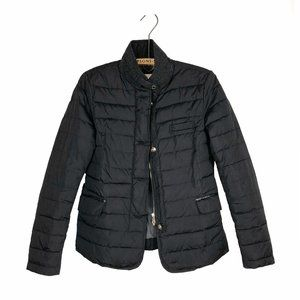 Massimo Dutti Quilted Puffer Jacket Black Classic
